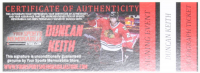 Duncan Keith Signed #2 Swatch (Keith COA) at PristineAuction.com