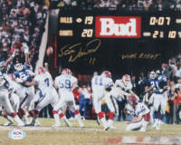 """Scott Norwood Signed Bills 8x10 Photo Inscribed """"Wide Right"""" (PSA COA) at PristineAuction.com"""