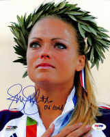 "Jennie Finch Signed Team USA 8x10 Photo Inscribed ""04 Gold"" (PSA COA) at PristineAuction.com"