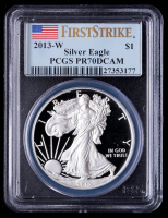 2013-W American Silver Eagle $1 One Dollar Coin - First Strike (PCGS PR70 Deep Cameo) at PristineAuction.com