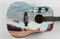 "Set of (4) Highwaymen Acoustic Guitars Signed by Johnny Cash, Waylon Jennings, Willie Nelson, & Kris Kristofferson Inscribed ""Love"" & ""92"" (PSA Hologram & PSA LOA) at PristineAuction.com"