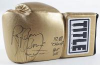 "Ray ""Boom Boom"" Mancini Signed Boxing Glove Inscribed ""82-84 Champ"" & ""HOF 2015"" (JSA COA) at PristineAuction.com"