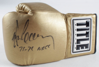 """Gerry Cooney Signed Boxing Glove Inscribed """"73-71 NRCC"""" (JSA COA) at PristineAuction.com"""