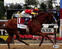 Mike Smith Signed 8x10 Photo with Justify (Beckett COA) at PristineAuction.com