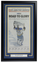 2019 Blues Stanley Cup Champions Road to Glory 18x30 Custom Framed Newspaper Cover Page Display at PristineAuction.com