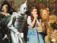 """""""The Wizard of Oz"""" 11x14 Photo Cast-Signed by (6) with Mickey Carroll, Donna Stewart-Hardway, Karl Slover, Jerry Maren, Clarence Swensen & Margaret Pellegrini (JSA COA) at PristineAuction.com"""