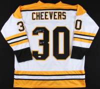 """Gerry Cheevers Signed Jersey Inscribed """"HOF 85"""" (JSA Hologram) at PristineAuction.com"""