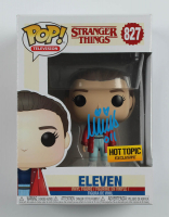 """Millie Bobby Brown Signed """"Stranger Things"""" #827 Eleven Funko Pop! Vinyl Figure Inscribed """"011"""" (Beckett COA) at PristineAuction.com"""