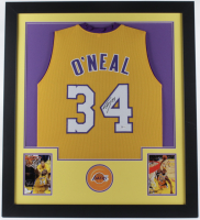 Shaquille O'Neal Signed 31x35 Custom Framed Jersey Display (Beckett COA) at PristineAuction.com