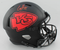 Clyde Edwards-Helaire Signed Chiefs Full-Size Eclipse Alternate Speed Helmet (Beckett COA) at PristineAuction.com