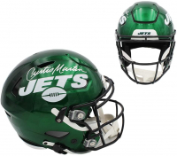 Curtis Martin Signed Jets Full-Size Authentic On-Field SpeedFlex Helmet (Radtke COA) at PristineAuction.com