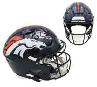 "Terrell Davis Signed Broncos Full-Size Authentic On-Field SpeedFlex Helmet Inscribed ""Mile High Salute"" (Radtke COA) at PristineAuction.com"