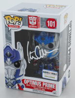 "Peter Cullen Signed ""Authentic Transformers"" #101 Optimus Prime Funko Pop! Vinyl Figure (JSA COA) at PristineAuction.com"