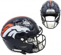 "Terrell Davis Signed Broncos Full-Size Authentic On-Field SpeedFlex Helmet Inscribed ""HOF 17"" (Radtke COA) at PristineAuction.com"