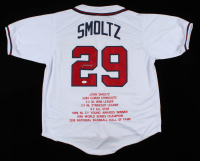 John Smoltz Signed Career Highlight Stat Jersey (JSA COA) at PristineAuction.com