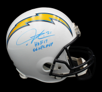 "LaDainian Tomlinson Signed Chargers Full-Size Helmet Inscribed ""HOF 17"" & ""06 NFL MVP"" (Radtke COA) at PristineAuction.com"