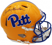 Curtis Martin Signed Pittsburgh Panthers Full-Size Authentic On-Field Speed Helmet (Radtke COA) at PristineAuction.com