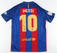 "Lionel Messi Signed FC Barcelona Jersey Inscribed ""Leo"" (Beckett Hologram) at PristineAuction.com"