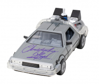 """Christopher Lloyd Signed """"Back to the Future II"""" Delorean Time Machine Light Up Die-Cast Car (PSA Hologram) at PristineAuction.com"""