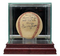 "Frank Sinatra Signed OAL Baseball Inscribed ""Thank You For All the Nice Things"" & ""78"" With High-Quality Display Case (JSA LOA) at PristineAuction.com"