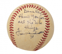 """Frank Sinatra Signed OAL Baseball Inscribed """"Thank You For All the Nice Things"""" & """"78"""" With High-Quality Display Case (JSA LOA) at PristineAuction.com"""