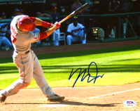 Mike Trout Signed Angels 8x10 Photo (PSA LOA) at PristineAuction.com