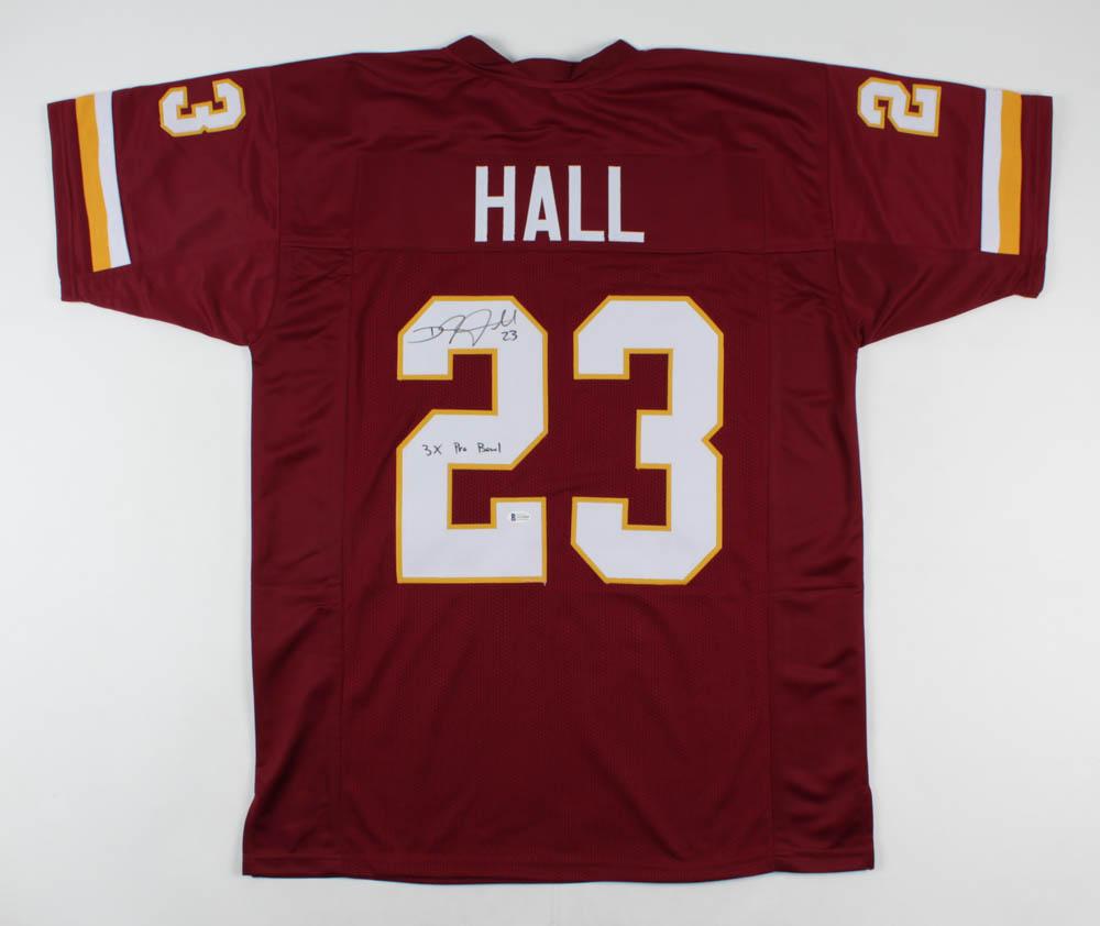 DeAngelo Hall Signed Jersey Inscribed