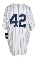 """Mariano Rivera Signed Yankees Jersey Inscribed """"Enter Sandman"""" (Beckett COA) at PristineAuction.com"""