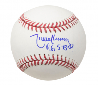 "Randy Johnson Signed OML Baseball Inscribed ""P.G. 5-18-04"" (PSA COA) at PristineAuction.com"
