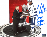 "Victor Hedman Signed Lightning 8x10 Photo Inscribed ""Conn Smythe Winner"" (Hedman COA) at PristineAuction.com"