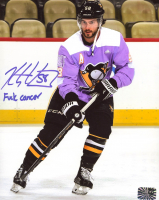 "Kris Letang Signed Penguins 8x10 Photo Inscribed ""F*** Cancer"" (Letang COA) at PristineAuction.com"