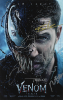 """Venom"" 11x17 Photo Cast-Signed by (8) with Tom Hardy, Riz Ahmed, Jenny Slate, Reid Scott, Todd McFarlane (AutographCOA LOA) at PristineAuction.com"