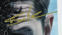 """Venom"" 11x17 Photo Cast-Signed by (8) with Tom Hardy, Riz Ahmed, Jenny Slate, Reid Scott, Todd McFarlane (AutographCOA LOA) at PristineAuction.com"