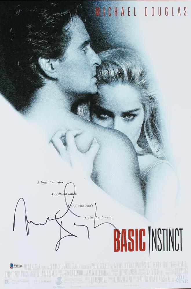 "Michael Douglas Signed ""Basic Instinct"" 12x18 Movie Poster (Beckett Hologram) at PristineAuction.com"