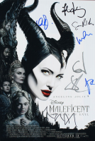 """Maleficent: Mistress of Evil"" 12x18 Movie Poster Cast-Signed by (8) with Angelina Jolie, Elle Fanning, Harris Dickinson, Ed Skrein, Sam Riley (AutographCOA LOA) at PristineAuction.com"