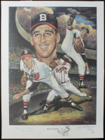"""Warren Spahn Signed LE Braves 18x24 Lithograph Inscribed """"363 Wins"""" (JSA COA) at PristineAuction.com"""