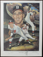 "Warren Spahn Signed LE Braves 18x24 Lithograph Inscribed ""363 Wins"" (JSA COA) at PristineAuction.com"