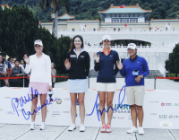 Paula Creamer & Michelle Wie Signed 11x14 Photo (JSA COA) at PristineAuction.com