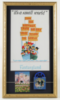 "Disneyland Fantasyland's ""It's A Small World"" 15x26 Custom Framed Print Display with Vintage Film Reel at PristineAuction.com"