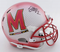 D.J. Moore Signed Maryland Terrapins Full-Size Authentic On-Field Hydro-Dipped Helmet (Beckett COA) at PristineAuction.com