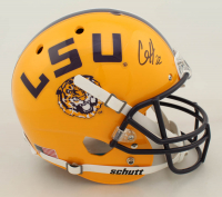 Clyde Edwards-Helaire Signed LSU Tigers Full-Size Helmet (Beckett COA) at PristineAuction.com