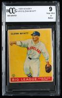 Glenn Myatt 1933 Goudey #10 RC (BCCG 9) at PristineAuction.com