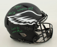 Brian Dawkins Signed Eagles Full-Size Authentic On-Field Eclipse Alternate Speed Helmet with Multiple Inscriptions (JSA COA) at PristineAuction.com