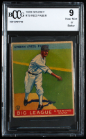 Red Faber 1933 Goudey #79 RC (BCCG 9) at PristineAuction.com