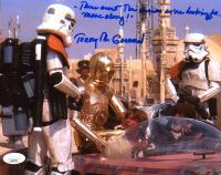 "Terry McGovern Signed ""Star Wars: A New Hope"" 8x10 Photo Inscribed ""These Aren't the Droids We're Looking For. Move Along!"" (JSA COA) at PristineAuction.com"