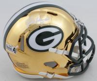 Brett Favre Signed Packers Chrome Speed Mini Helmet (Radtke Hologram) at PristineAuction.com