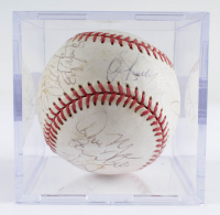 2001 Mariners OAL Baseball Team-Signed by (20) With Lou Piniella, Bret Boone, John Olerud, Jay Buhner with Display Case (Sportscards LOA) at PristineAuction.com