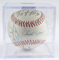 1986 Braves Baseball Team-Signed by (20) With Bruce Sutter, Ted Simmons, Ken Griffey Sr., Chris Chambliss with Display Case (Sportscards LOA) at PristineAuction.com