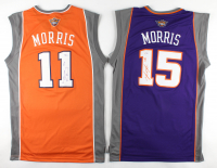 Set of (2) Signed Suns Jerseys with Marcus Morris & Markieff Morris (PSA COA) at PristineAuction.com