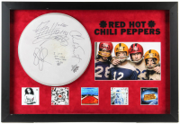 Red Hot Chili Peppers 23.5x34.5 Custom Framed Drum-Head Cover Display Band-Signed by (4) with Anthony Kiedis, Flea, Chad Smith & John Frusciante (JSA ALOA) at PristineAuction.com